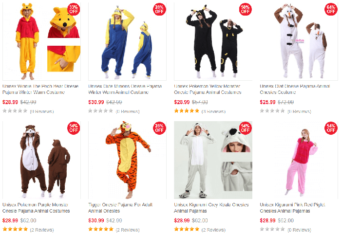 animal onesies pajamas